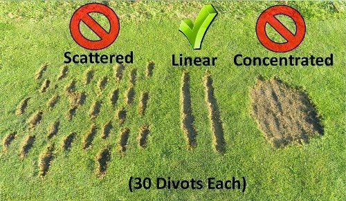 Divots with text